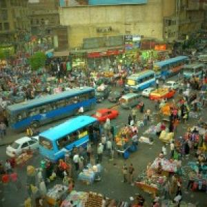 """""""Plan de Circulation ... au Caire"""" (C) V. Lorent-""""freelance""""/""""Sud Presse"""""""