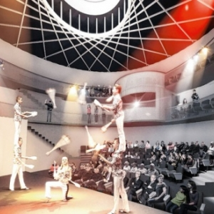 """La future salle circulaire de la """"Maison de la Culture"""" (c) Province de Namur"""