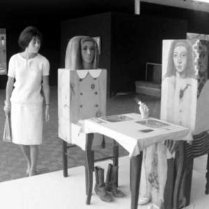 """Image extraite du film """"Dieu est-il Pop ?"""" (Jean Antoine/1964/avec les voix d Evelyne Axell et de Rene Magritte)"""