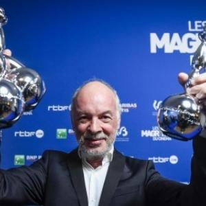 "Philippe Van Leeuw, son film ""Insyriated"" remportant 6 ""Magritte du Cinema"", en 2018 (c) ""Le Soir"""
