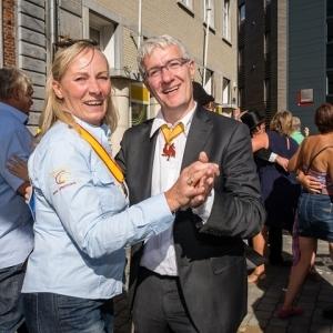 Une Vice-Presidente & un Echevin, F. Hennes & B. Guillitte
