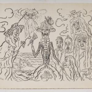 """""""Les Masques""""/James Ensor/1922/ (c) Province de Namur"""