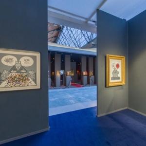 "Avec ""Le Chat"", à la ""BRAFA Art Fair"" (c) Philippe Geluck/""Huberty & Breyne Gallery"" 2019"