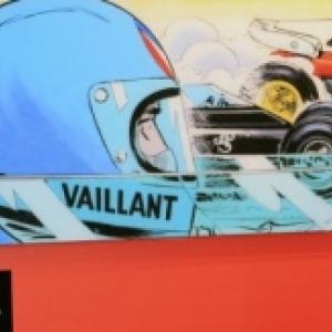 """""""Pour une fois, ici, je depasse Michel Vaillant"""" (Jacky Ickx) (c) """"Michel Vaillant Art Strips""""/2020"""