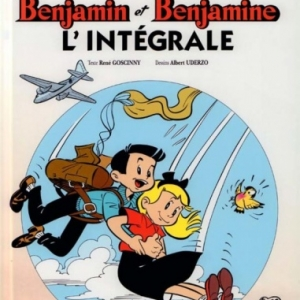 """Couverture de """"L'Intégrale"""" de """"Benjamin et Benjamine"""" (c) Albert Uderzo & Rene Goscinny/""""Ed. Albert-Rene""""/2017"""