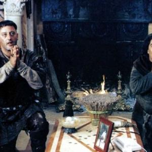 """Dans la cuisine de l """"Hotel de Groesbeeck-de Croix"""", en tournage pour """"Les Visiteurs : La Revolution"""""""