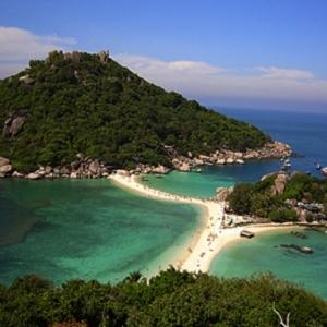 Koh Nangyuan, en Thailande, au large de Kho Tao et Kho Samui, de superbes iles…