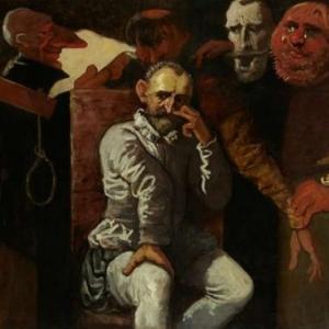 """""""Lecture de la Sentence de Mort, aux Comtes d Egmond et de Hornes"""", 1868, d apres Louis Galait, (c) Louis Ghemar/""""Galerie Rony Van de Velde"""""""