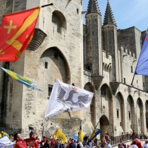 "En Avignon, lors d une Rencontre internationale (c) Cyril Hiely/""La Provence"""