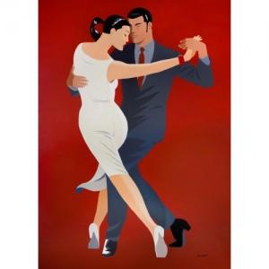 """""""Tango Canyengue"""" (52,5 x 32,5 cm) (c) Philippe Berthet 2018"""