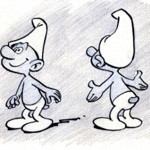 "Premiers ""Schtroumpfs"", en 1958 (c) ""Peyo"""