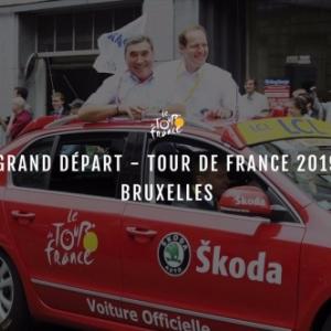 """En Juillet 2019, avec """"Skoda"""" et Eddy Merck, pour le""""Grand Depart"""" du Tour de France"""
