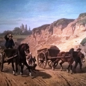 """""""Percement de l Avenue Louise""""/Paul Van Dervin (c) Musee de la Ville de Bruxelles"""