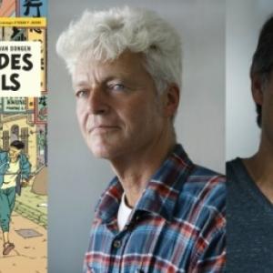 De g. a d. : Les dessinateurs neerlandais Teun Berserik et Peter Van Dongen