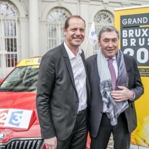 """Aux cotes du patron du """"Tour"""", Christian Prudhomme (c) Eric Danhier"""