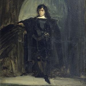 """""""Autoportait en Hamlet"""", Eugene Delacroix, 1821"""