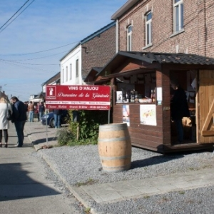 """Des Vins d Alsace primes, sur le stand du (c) """"Domaine de la Gauterie"""""""