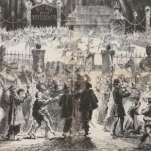 """Inauguration du Bocal des Freres Ghemar"", 1862, 40 x 60 cm (c) L. Ghemar/""Galerie Rony Van de Velde"""