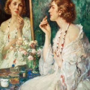 """Un portrait plein d elegance (c) Fernand Toussaint/""""Claeys Gallery"""""""