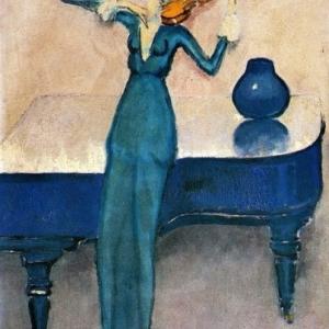"""""""La Violoniste"""" (1920) (c) Kees Van Dongen (c) Ville de Liege"""