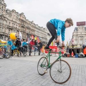 """Depuis 50 jours, deja, c est la """"Fete du Velo"""", pour tous, a Bruxelles (c) Eric Danhier"""