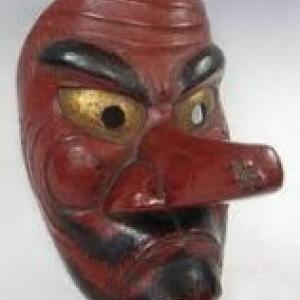 """Un masque """"Tengu"""""""