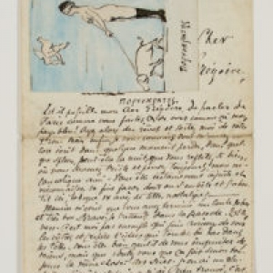 Lettre de Charles Van Lerberghe a Gregoire Leroy/1886