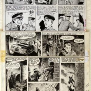 """Pour """"Mitacq"""", un crayonne de (c) Rene Follet/Ed. """"Dargaud"""", 1966, et Ed. """"Dupuis"""", 1977"""