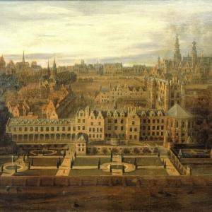 """Palais de Coudenberg, peint par un artiste anonyme (c) """"Musee de la Ville de Bruxelles"""""""