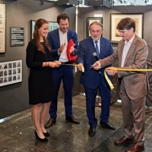 Sebastien de Baere, le Directeur General d Autoworld, Herman De Croo et Emmanuel Dehan, le 20 juin 2019