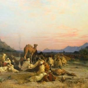 """""""Bivouac des Chameliers"""" (1875/173,5 x 285 cm/Mairie/Brantome)"""