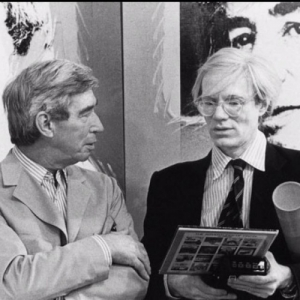 "Salle 8 : avec Andy Warhol (c) ""Herge-Moulinsart 2019"""