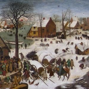 """""""Le Denombrement de Bethleem"""" (1566) (c) Pieter Breughel/""""Musees royaux des Beaux-Arts"""""""
