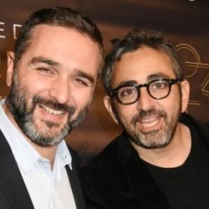 """Olivier Nakache & Eric Toledano, en 2018, aux """"Prix Lumieres"""" (c) Foc Kan/""""Getty Images"""""""