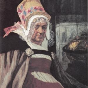 """""""Tete de vieille Anversoise"""" (1873) (c) Felicien Rops/""""Musee provincial Felicien Rops"""""""