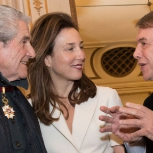 "Claude Lelouch, Elsa Zylberstein et Salvatore Adamo (c) Benoit Doppagne/""Belga""/2016"