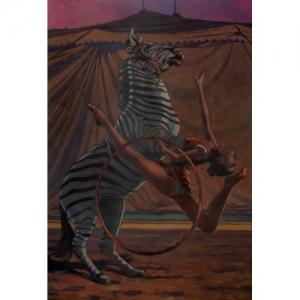 """""""Side Show"""" 116 x 73 cm (c) Miles Hyman"""