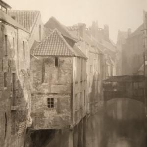 """""""Perspective vue de la Rue des Teinturiers""""/Louis-Josseph Gremar (c) Musee de la Ville de Bruxelles"""
