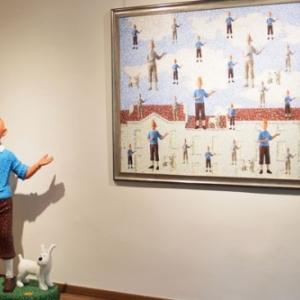 "Hommage a ""Herge"" et Magritte (c) Sam Havadtoy/""Kalman Maklary Fine Arts"""
