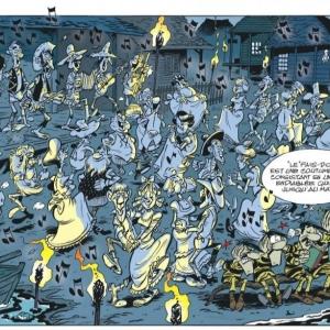 """Au """"Fais Dodo"""", """"alors on danse"""", au """"Fais Dodo""""/Page 29 © « Achdé » & « Jul »/« Lucky Comics-Dargaud »/2020"""