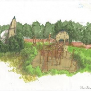 Maquette de la nouvelle attraction du parc