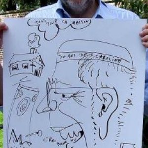 caricature des 30 ans de Caroline Sluiter de Walhain