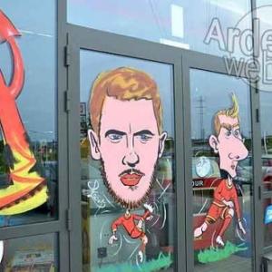 caricatures Euro 2016 avec les Diables Rouges