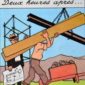 Tintin en Amerique (Herge) La phase de construction