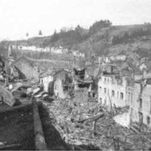 Houffalize 1944 1945 rue ville basse