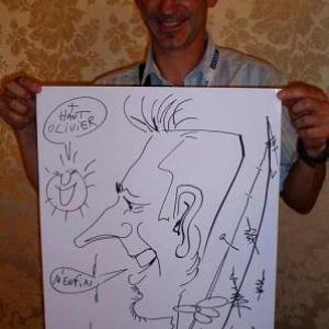 Caricature, chercheur,bruxelles, 300016