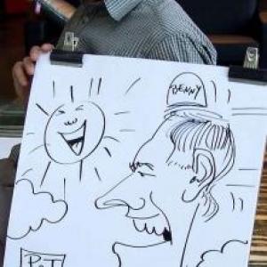 Karikaturen Pot interieur Axel-8321