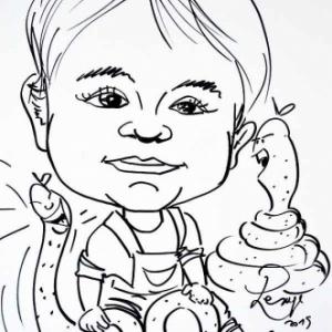 Caricature Jose Michel-4486
