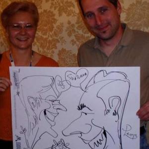Caricature, chercheur,bruxelles, 300015