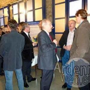 Albert Stassen (Commissaire arrondissement Lg, repres. du Gouverneur Foret), Guido Arimont (Natagora/BNVS), Daniel Heck (Vice-President CRA et Office du Tourisme des Cantons de Est)